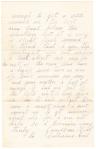 Civil War Letter, Page 2